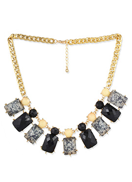 Multicolored Crystal Studded Necklace