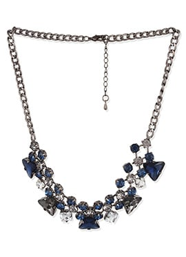 Multicolored Crystals Studded Necklace