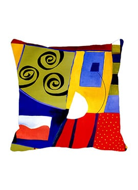 Multicolored Dotted Cushion Cover