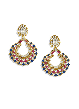 Multicolored Embellished Chand Balis
