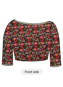Multicolored embroidered Blouse