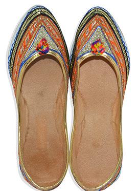Multicolored Embroidered Women Jutis