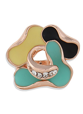 Multicolored Floral Ring