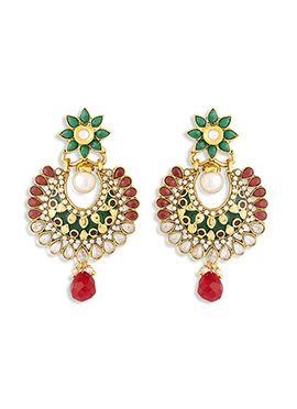 Multicolored Foliage Designed Chand Balis