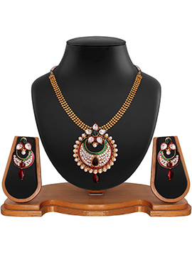 Multicolored Foliage Designed Necklace Set