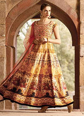 Multicolored Georgette Ankle Length Anarkali