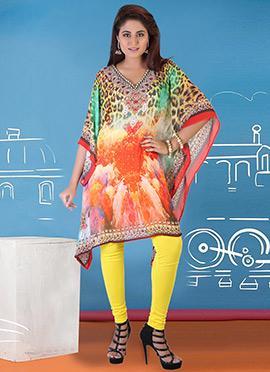 Multicolored Georgette Kaftan