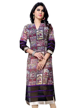 Multicolored Georgette Kurti
