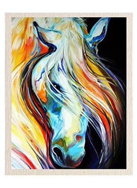 Multicolored Horse Canvas