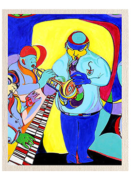 Multicolored Jazz Music Canvas