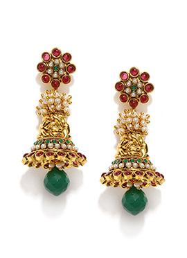 Multicolored Jhumka Earring By Fida