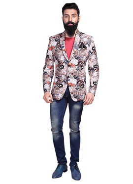 Multicolored Jute Blazer Jacket