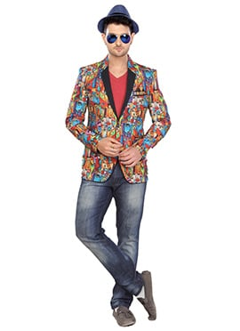 Multicolored Jute Blazer