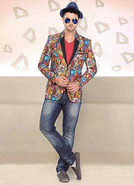 Multicolored Jute Blazer