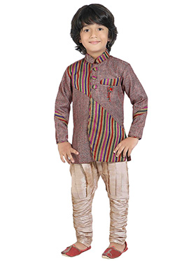 Multicolored Jute Kids Sherwani