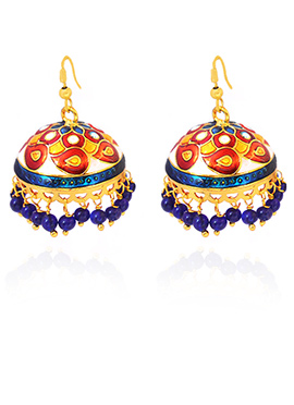 Multicolored Meenakari Jhumka