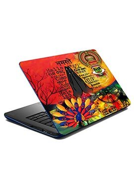 Multicolored Nameste Laptop Skin