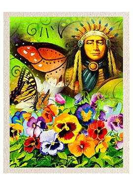 Multicolored Nature Canvas