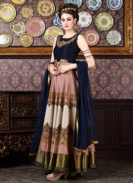 Multicolored Printed Ankle Length Anarkali Suit