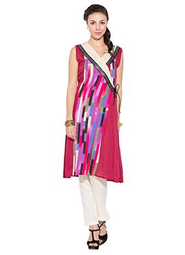 Multicolored Printed Cotton Kurti