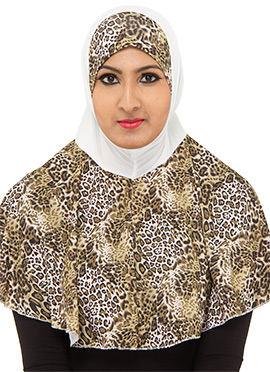 Multicolored Printed Hijab