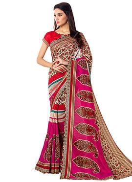 Multicolored Printed Saree