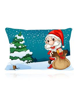 Multicolored Santa Cushion Cover