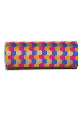 Multicolored Silk Clutch