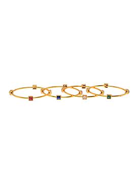 Multicolored Stone Bangles