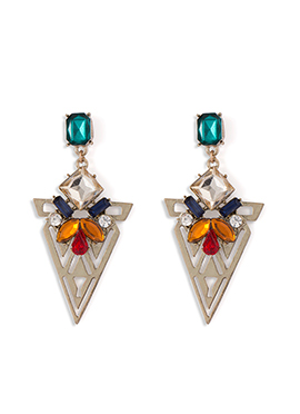 Multicolored Stone Studded Danglers
