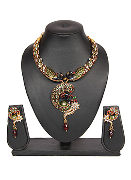 Multicolored Traditsiya Necklace Set