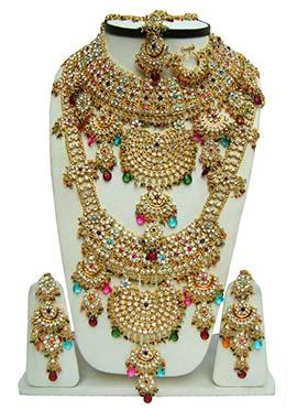 Multicolored Zircon Stones Bridal Set
