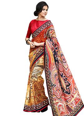 Multihued Printed Saree