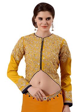 Mustard Yellow Art Silk Blouse