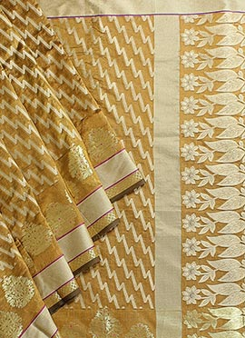 Mustard Art Silk Saree