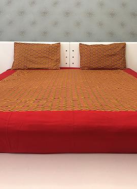 Mustard Cotton Bed Sheet