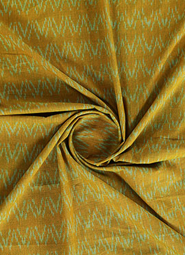 Mustard Cotton Woven Fabric
