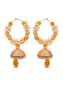Mustard Hoops Silk Thread Earrings