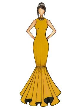 Mustard Mermaid Gown