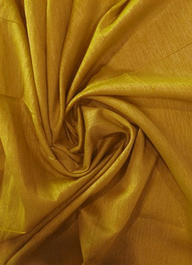 Mustard Art Raw Silk Fabric