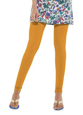 Go Colors Mustard Yellow Cotton Churidar Bottom