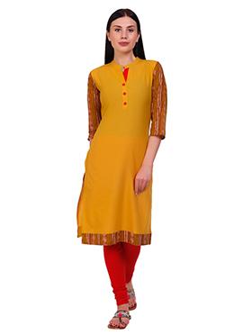 Mustard Yellow Cotton Kurti