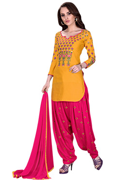 Mustard Yellow Cotton Salwar Suit