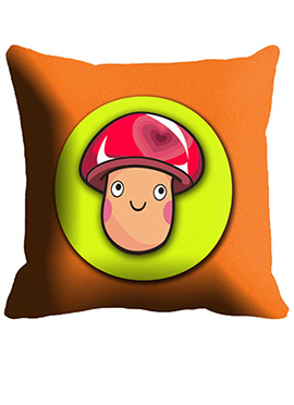 Mustard yellow Face Cushion Cover