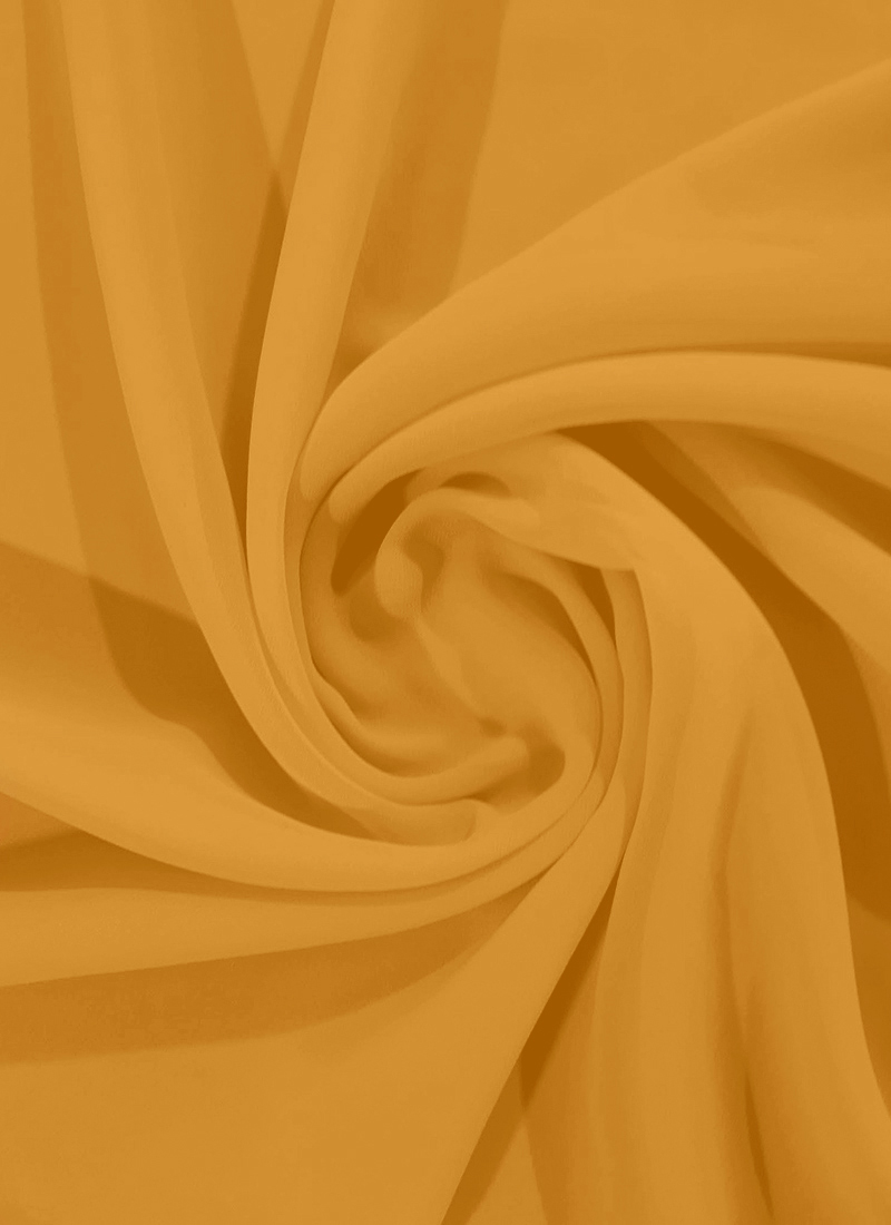 Buy Mustard Yellow Georgette Fabric, Faux Georgette, blended solids Online  Shopping   PFFG219122