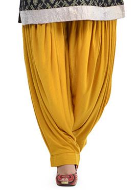 Mustard Yellow Lycra Patiala Pant