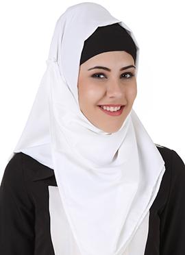Naazneen White Polyester Hijab