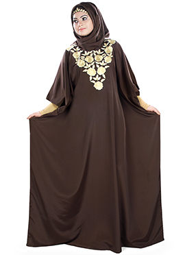 Naeema Brown Crepe Fustan