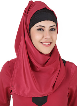 Nagheen Red Crepe Hijab