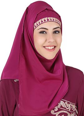 Nahida Magenta Crepe Hijab